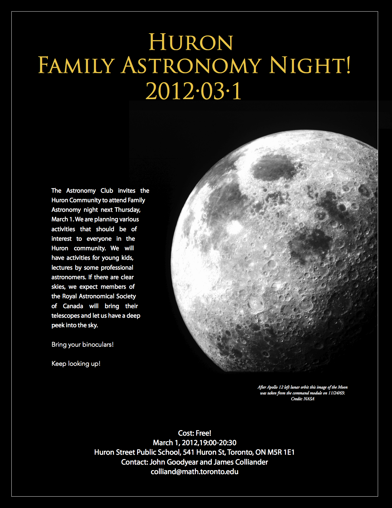 2012 Family Home Decorating Ideas: 2012 Family Astronomy Night Flyers
